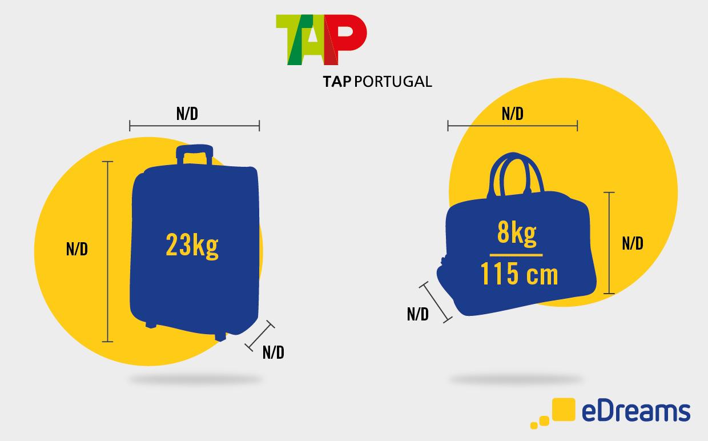 tap portugal equipaje