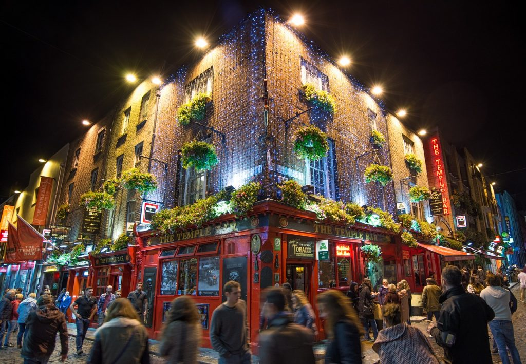 Temple Bar, Dublín en Navidad