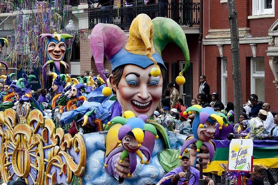 Los mejores destinos para disfrutar de los Carnavales. Mardi Gras Nueva Orleans