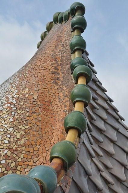 Sant Jordi en Cataluña. Dragón Casa Batlló