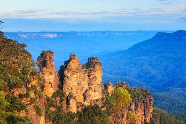 Las Tres Hermanas famosas de las Blue Mountains, Australia