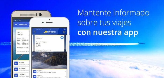 app edreams - blog de viajes edreams