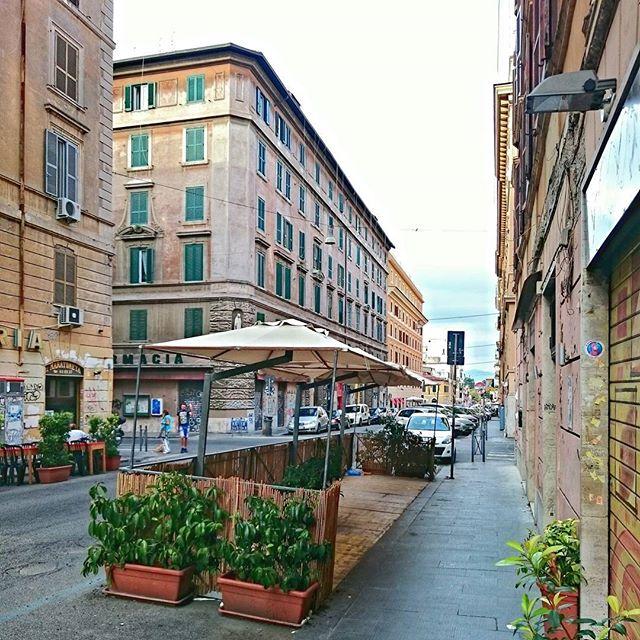 Calle del barrio universitario de San Lorenzo, donde se encuentra la Universidad La Sapienza de Roma