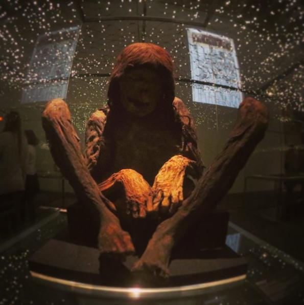 Momia en el Parque de las ciencias de Granada