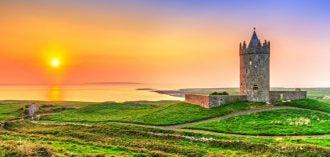 puesta de sol en irlanda
