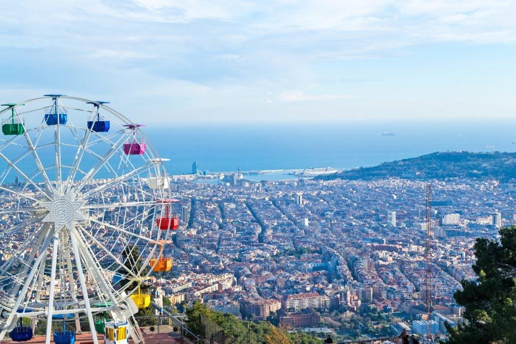 Vistas desde el Tibidabo Barcelona