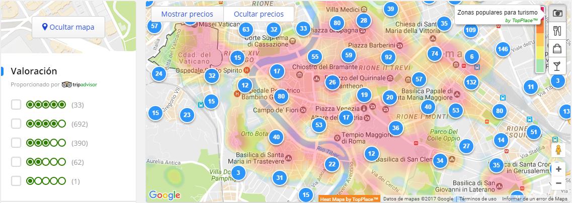 Cómo elegir el mejor hotel: Nuevos mapas de calor