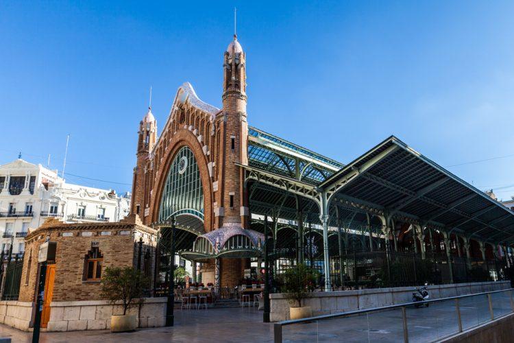 Exteriores del Mercado central de Valencia