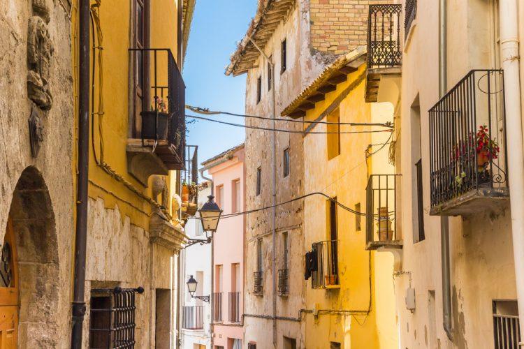 Casco histórico de la localidad de Requena, Valencia
