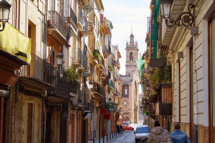 Barrio del Carmen y centro de la ciudad de Valencia