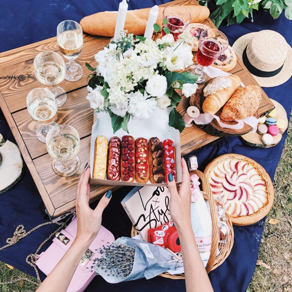 picnic en los parques de París