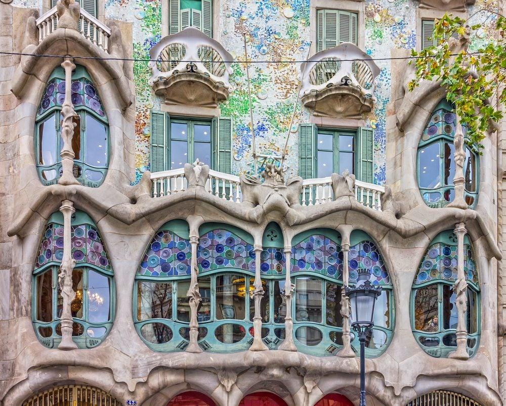 Balcones de la Casa Batlló en Barcelona