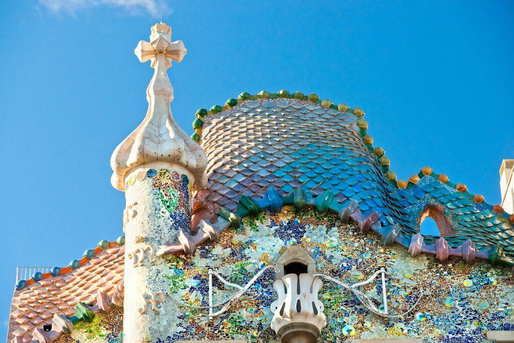 Tejado de la Casa Batlló en Barcelona