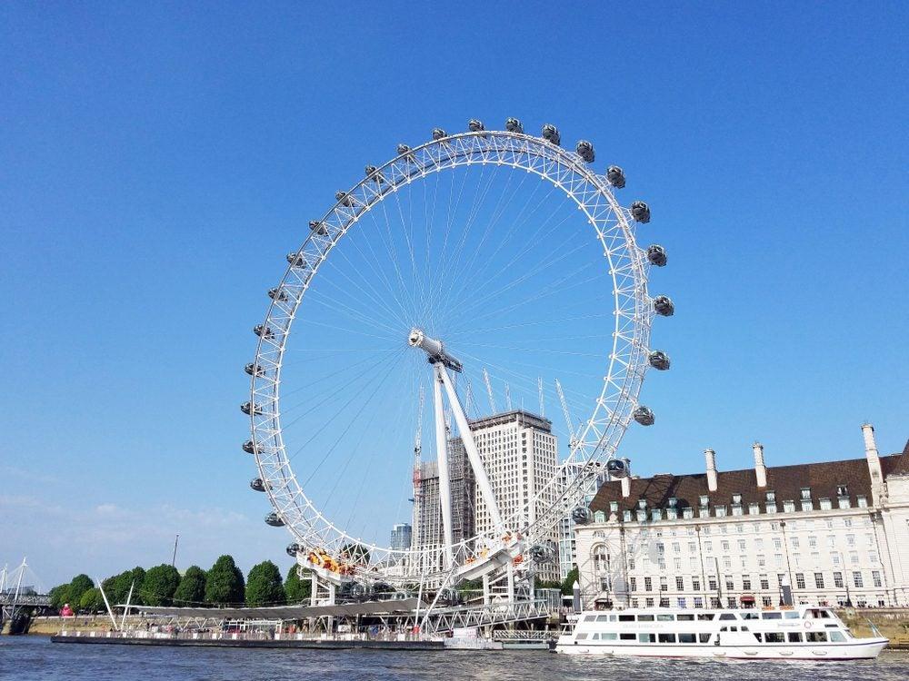 London Eye, la noria más grande de Europa, desde donde disfrutar de las mejores vistas de Londres.