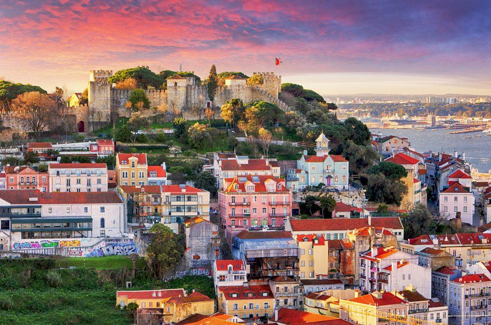 Vistas al Castillo de San Jorge, Lisboa