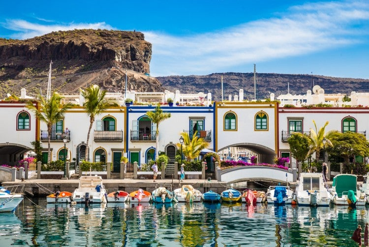 Puerto de Mogán en la isla de Gran Canaria