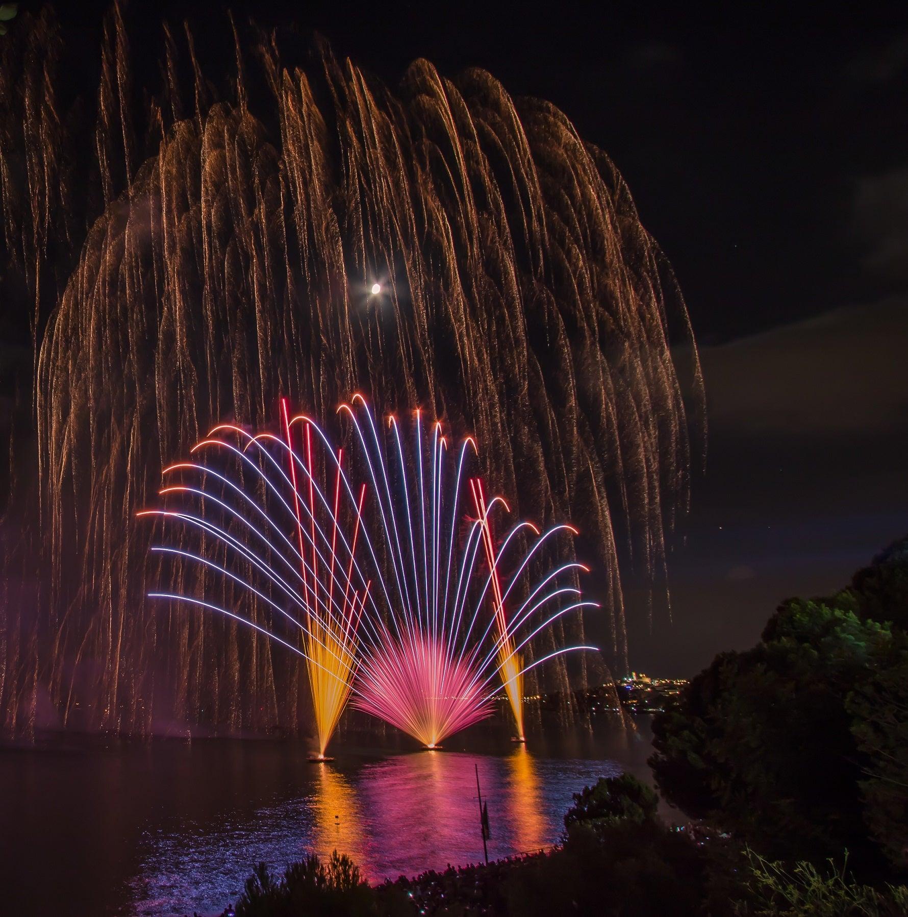 fuegos artificiales altea castell de l'olla