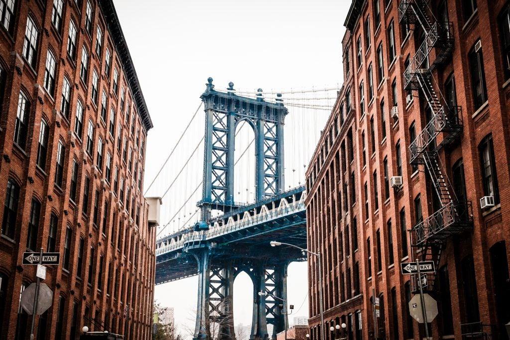 Vista del Puente de Manhattan