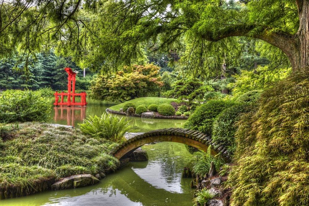 jardín japones en el parque botánico de Brooklyn