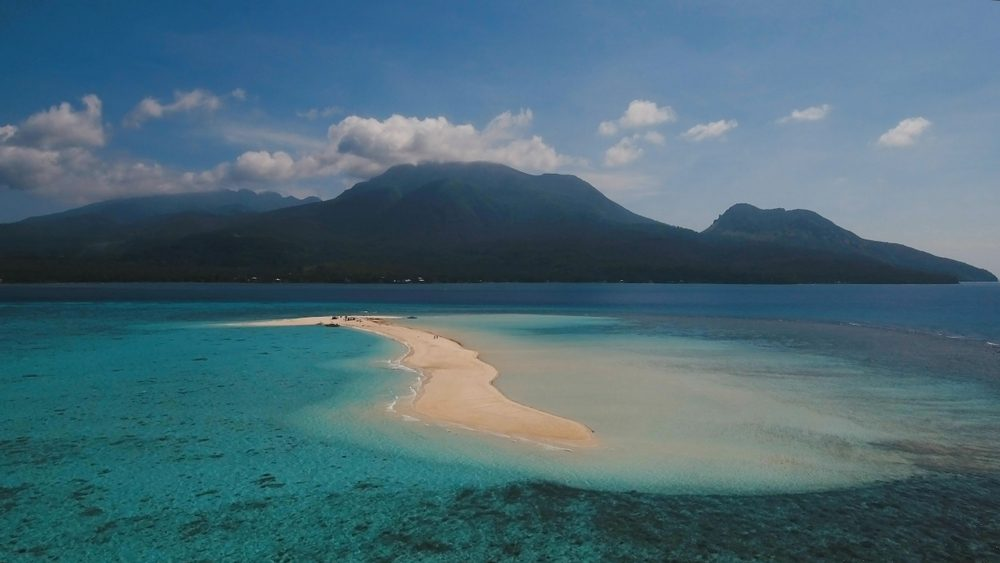Camiguín, Filipinas, vistas de la costa y el volcán