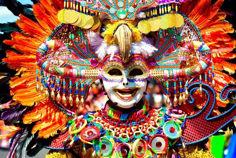 Máscara tradicional filipina