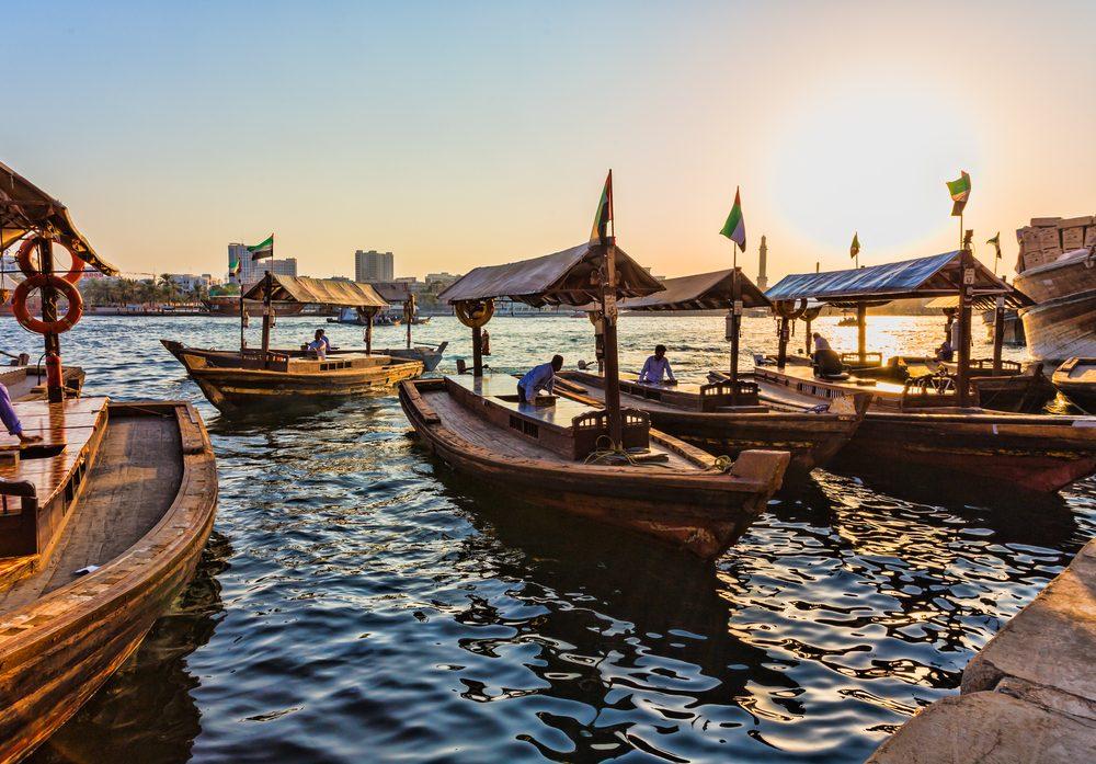 Dubái Creek, barcas tradicionales