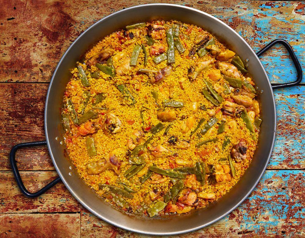 Platos de cocina española típicos, la paella valenciana