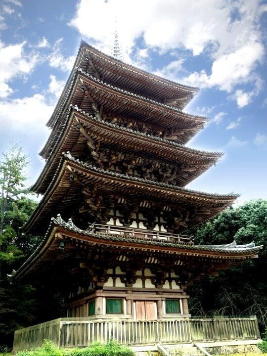 Pagoda de madera del Templo To-ji en Kioto
