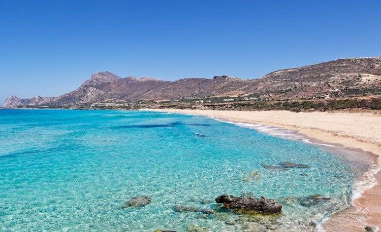 Playa en la isla griega de Creta