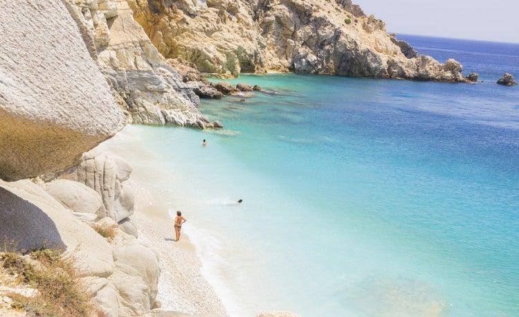 Playa de la isla de Icaria, Grecia