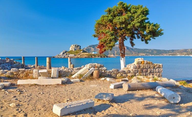 Ruinas griegas en la isla de Kos, Grecia