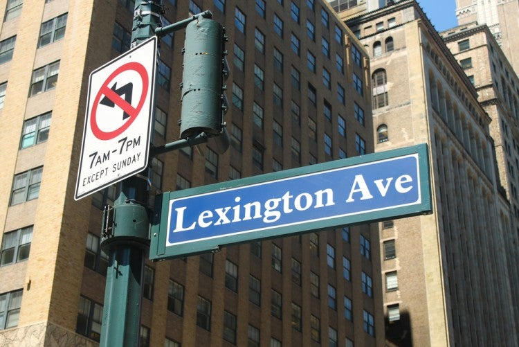 Famosa calle Lexington Avenue en Nueva York