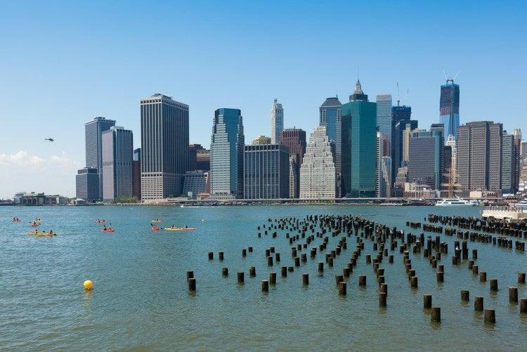 Paseo en kayak por el Río Hudson en Nueva York
