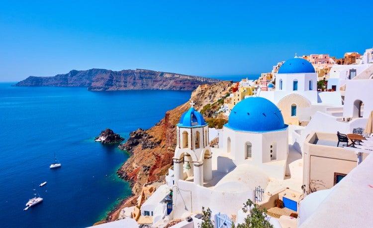 Isla de Santorini, una de las islas griegas más famosas