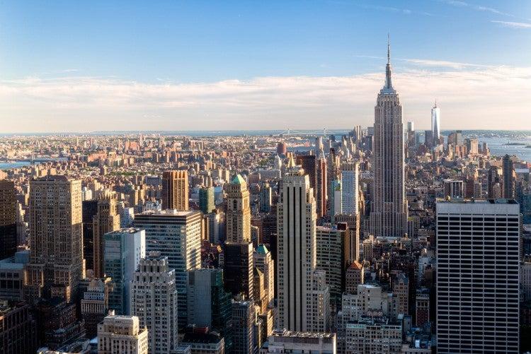 Vistas del skyline de Nueva York desde el edificio Top of the Rock