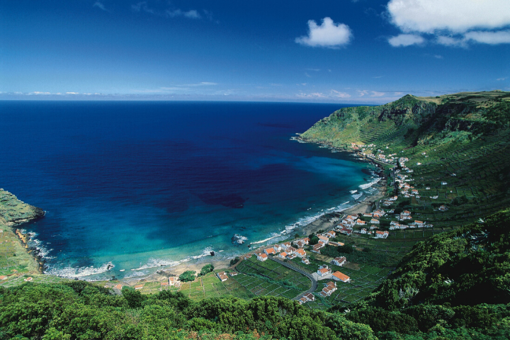 Playa San Lorenzo en la isla de Santa María, Azores