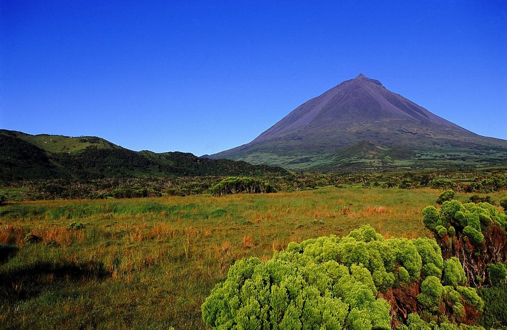 Ponta de Pico, la montaña más alta de Portugal en Isla de Pico, Azores