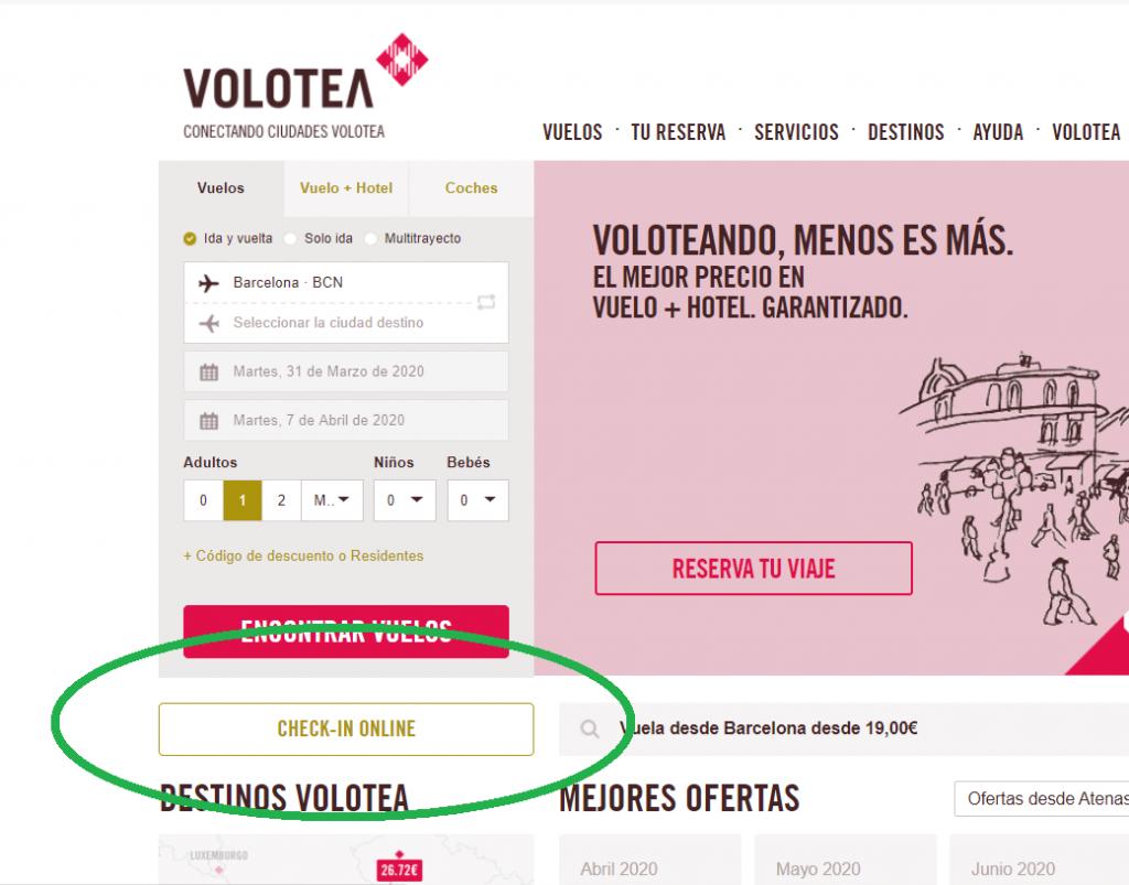 Página web de Volotea