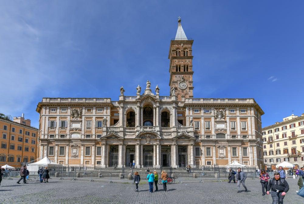 Basílica de Santa María Maggiore en el barrio Esquilino de Roma