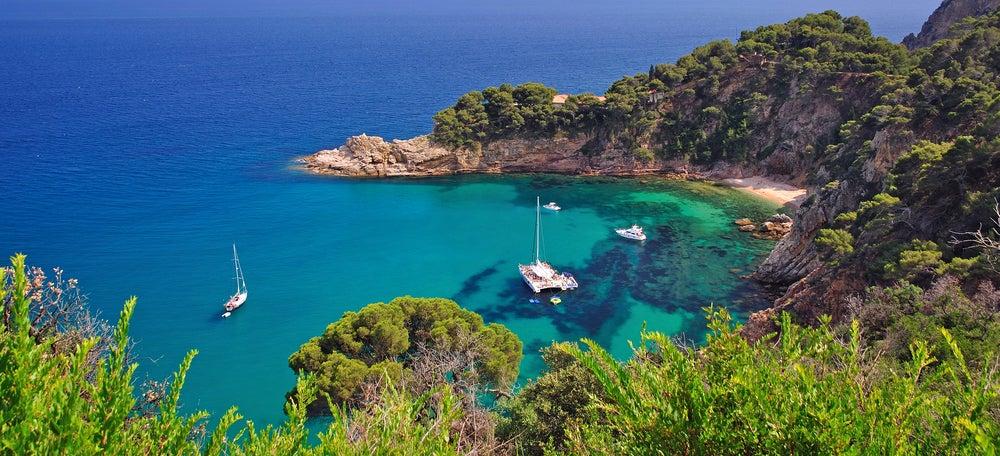 Paisaje costero Tossa de Mar Costa Brava Cataluña