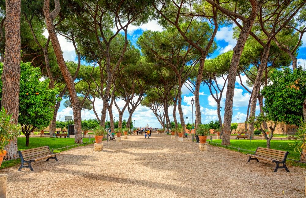 Parque Savello más conocido como Jardín de los Naranjos en Roma