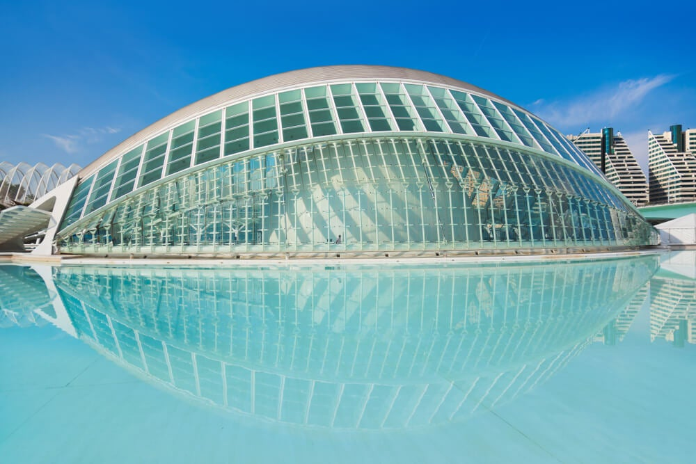 Edificio Hemisferic en la Ciutat de les Arts i les Ciències de València