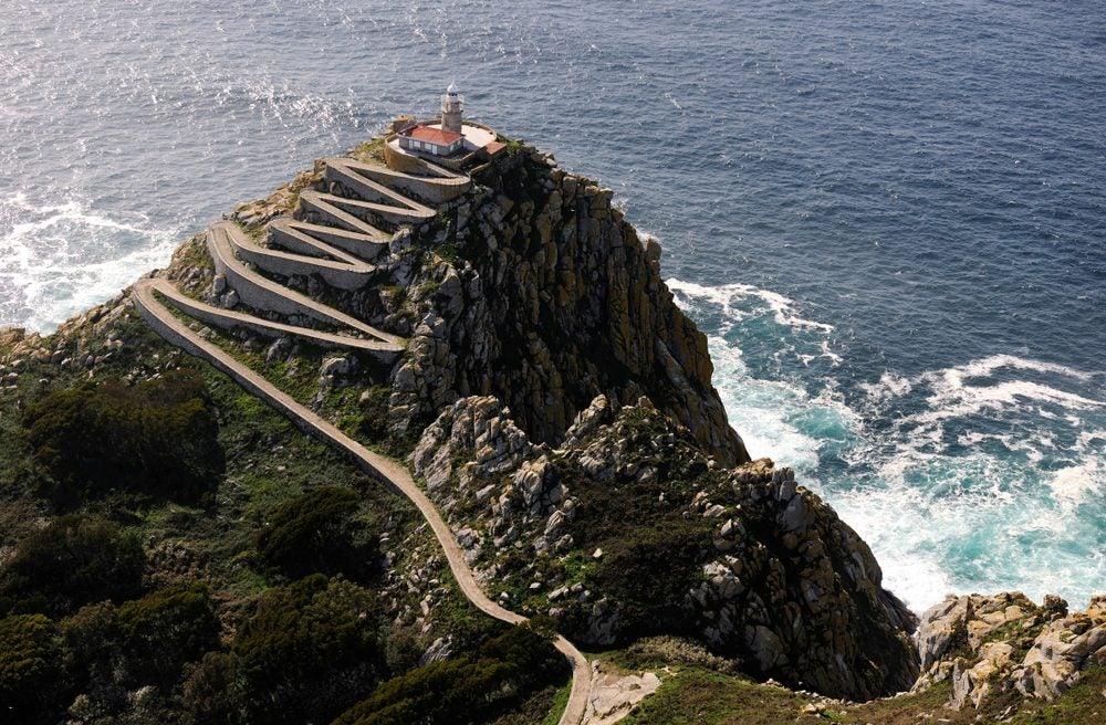 Faro de Cíes en las Islas Cíes, cerca de Vigo, Galicia