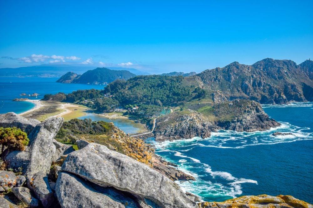 Islas Cíes en el Parque de las Islas Atlánticas de Galicia
