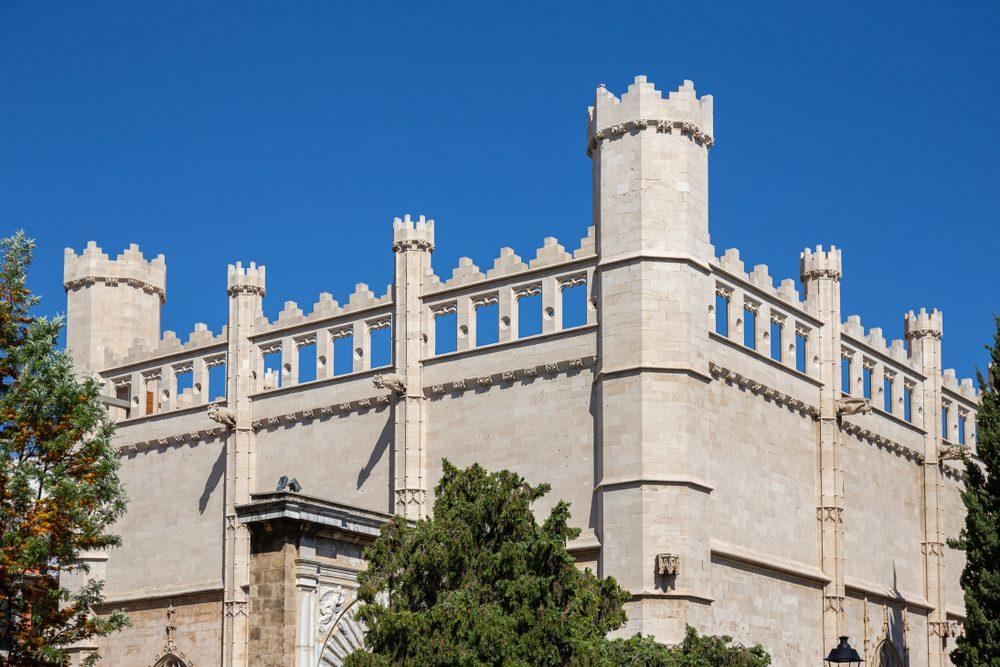 Parte superior del edificio de la Lonja de Palma de Mallorca