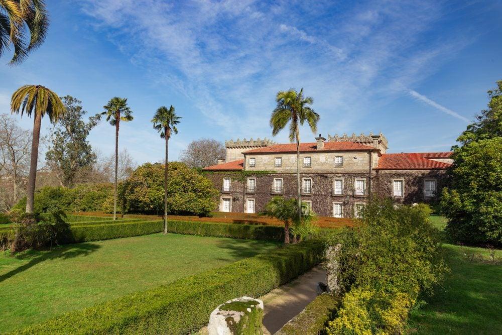 Jardines del Pazo Quiñones de León en el Parque de Castrelos de Vigo