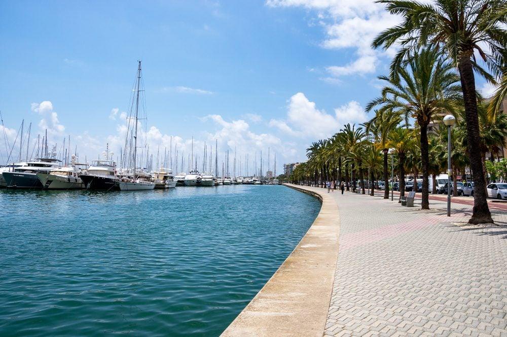 Paseo Marítimo de Palma de Mallorca en la zona del puerto