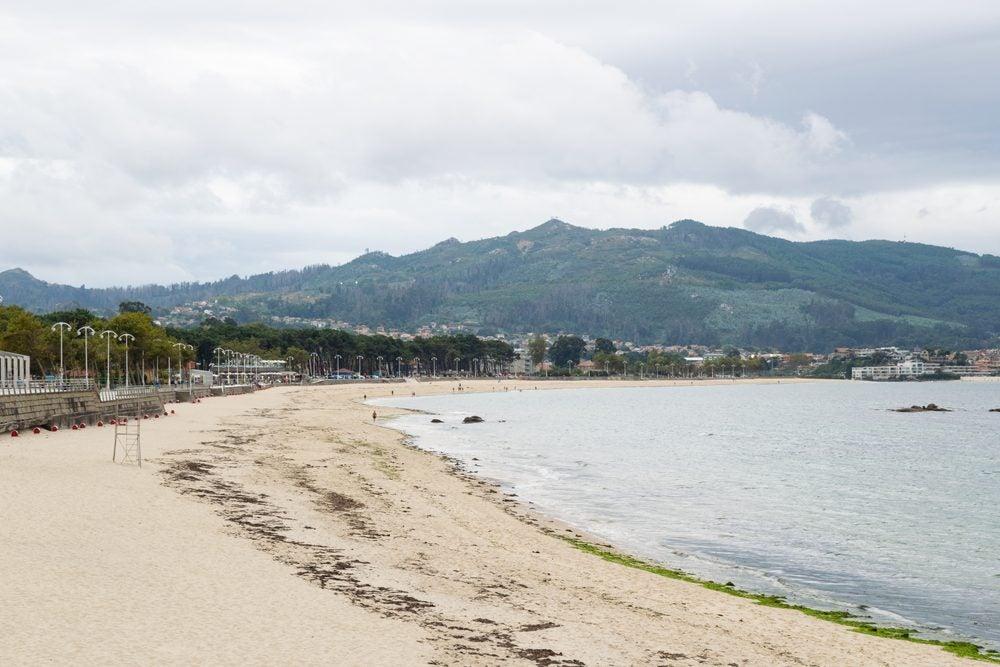 Arenal de la Playa de Samil en Vigo, Galicia