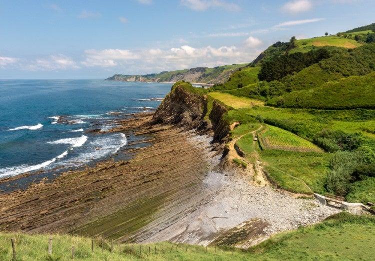 Playa en el Geoparque del País Vasco