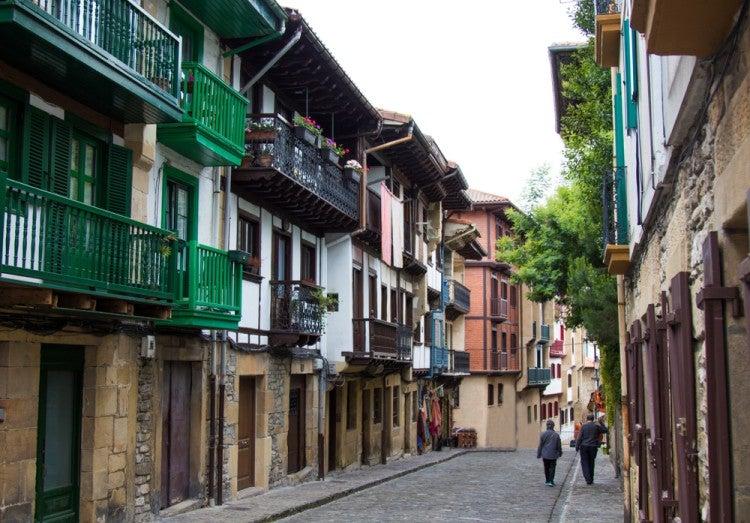 Casco Antiguo de Hondarribia en el País Vasco